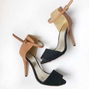 Shoes - Black and Tan heels